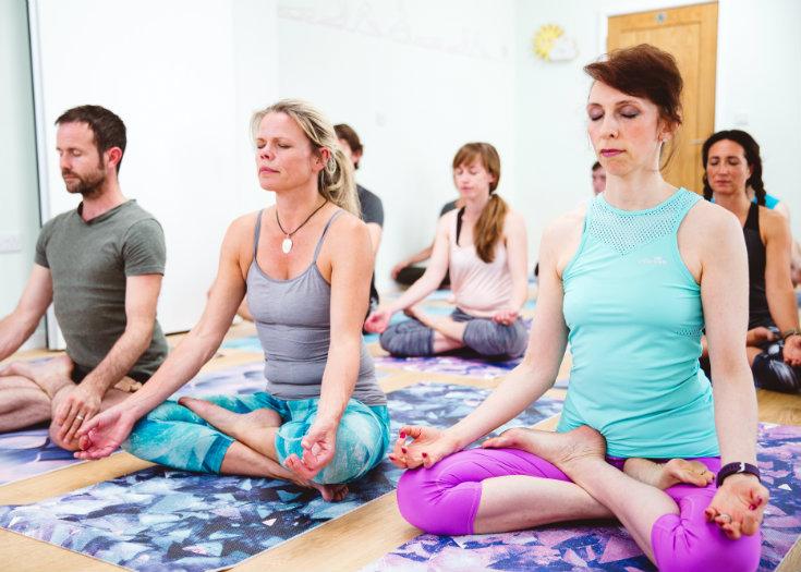 Iriness yoga class Padmotanasana