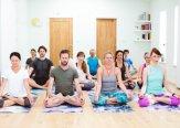 Iriness yoga class Padmasana