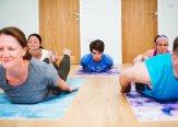 Iriness yoga class Salabasana