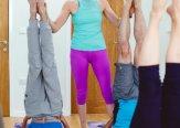 Iriness yoga class Sarvangasana