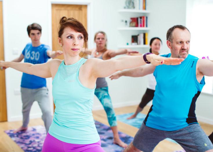 Iriness yoga class Virabhadrasana